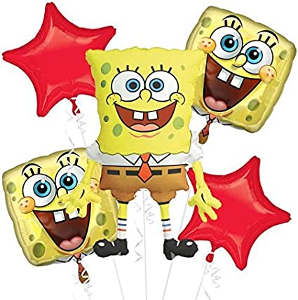Amazon.com: Bob Esponja 5 pc. Globo Ramo: Toys & Games