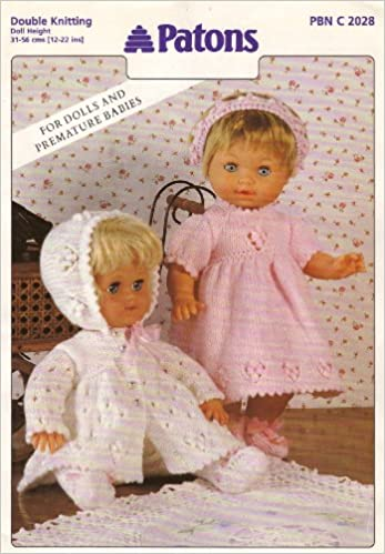 322ba6969324 Patons Dolls Clothes Knitting Pattern  For Dolls and Premature ...