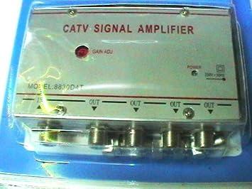 aumenta la señal digital terrestre siempre que necesitas!-Amplificador para antena de televisión analógica o digital prodigital-nuevo modelo de 4 ...