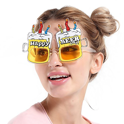 Make Beer Goggles (Photo Booth Props Party Tricky Funny Glasses (Birthday cake beer glasses))
