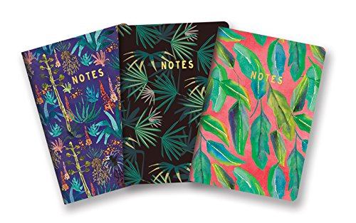Studio Oh! 3-Pack Notebooks in Coordinating Designs Available in 12 Different Bundles, Justina Blakeney Botanical -