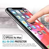 Maxboost Screen Protector for Apple iPhone XS Max (6.5 inch) (Clear, 3 Packs) 0.25mm iPhone XS Max Tempered Glass Screen Protector w/Advanced Clarity [3D Touch] Work with Most Case 99% Touch Accurate