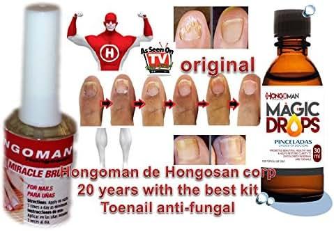 hongosan Toenail Fungus Treatment kit Maximum Strength Anti-Fungal Solution Approved, Safe and Effective, 1 Fl. Oz.