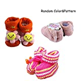 Sealive Baby Kids Coral Warm Cotton Shoes Prewalkers Toddler Socks,Non-slip Baby Boots Cartoon Socks...