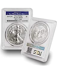 2019 W American Silver Eagle $1 MS70 PCGS First Strike - Struck at the West Point Mint