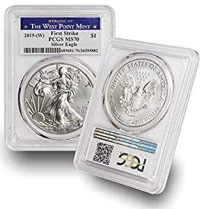 2019 W American Silver Eagle $1 MS70 PCGS First Strike – Struck at the West Point Mint