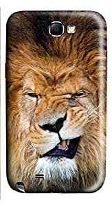 Samsung Note 2 Case Lion Grin 3D Custom Samsung Note 2 Case Cover