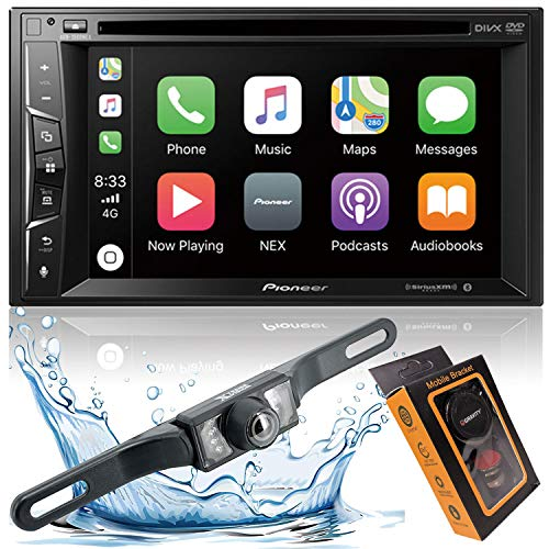 Pioneer AVH-1500NEX Double Din Apple Carplay In-Dash DVD/CD/Am/FM Car Stereo Receiver W/ 6.2' Touchscreen + Backup Camera Included + Phone Magnet Holder