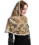 Chapel Catholic Veil lace mantilla for church headwrap V33 (Golden)