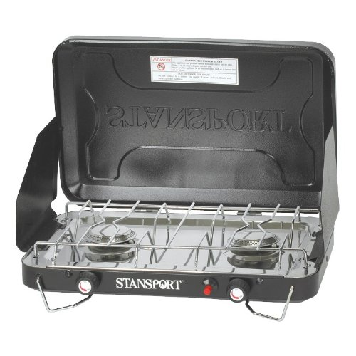Stansport High Output Propane Stove with Piezo Igniter, Black (Burner Ignition Stove Electronic Propane)