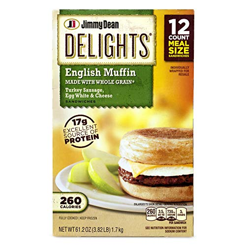 Jimmy Dean Delights Turkey Sausage, Egg White & Cheese English Muffin (3.82 lbs)