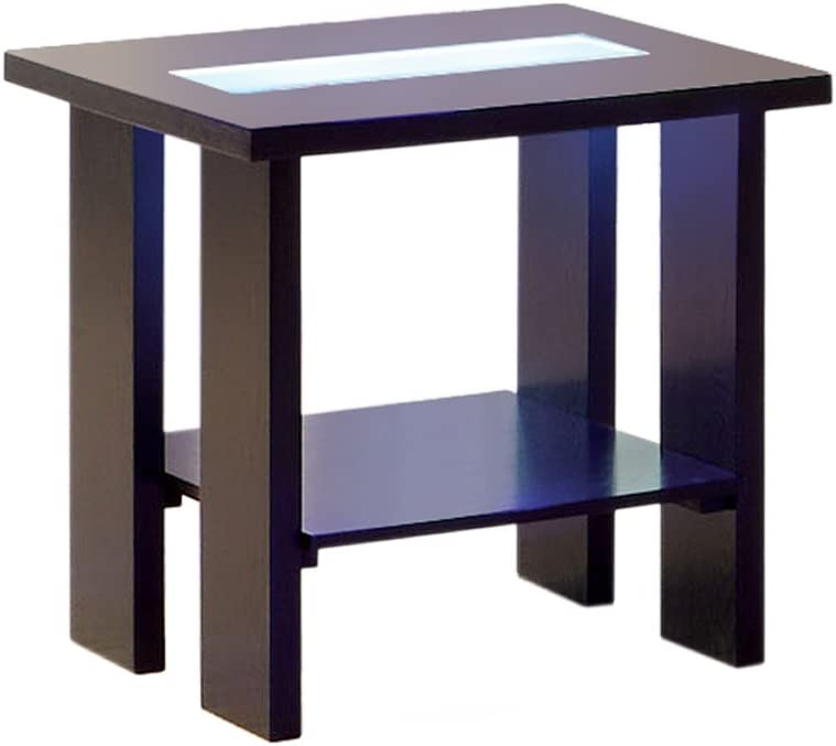 Furniture of America Crownguard 3-Way LED Lighted End Table, Espresso