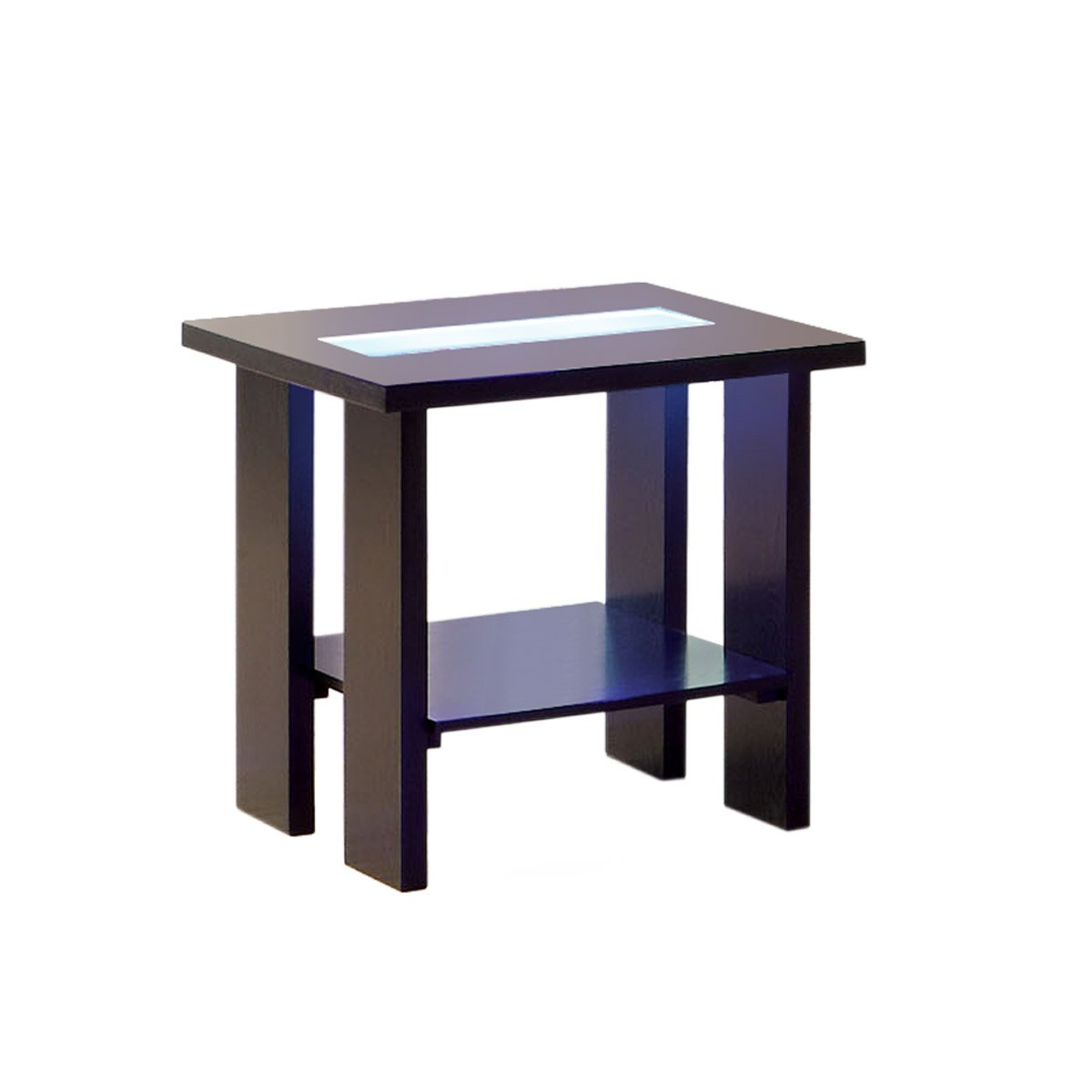 Beautiful Amazon.com: Furniture Of America Crownguard 3 Way LED Lighted End Table,  Espresso: Kitchen U0026 Dining