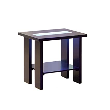 Etonnant Furniture Of America Crownguard 3 Way LED Lighted End Table, Espresso