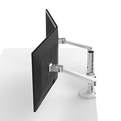 amazon com mingo labs dual lcd desktop mount silver oa 4s rh amazon com