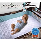 ACC Pack N Play Crib Mattress Pad Cover Fits ALL Mini Cribs, Waterproof & Dryer Friendly. Lifetime Warranty! Best Fitted Crib Protector. Mini & Portable Mattresses. Comfy & Hypoallergenic. Best Value
