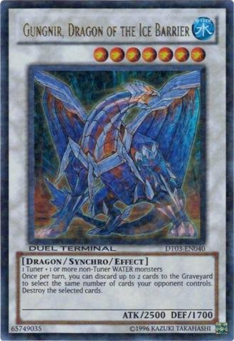 Yu-Gi-Oh! - Gungnir, Dragon of the Ice Barrier (DT03-EN040) - Duel Terminal 3 - 1st Edition - Ultra Rare (Gungnir Dragon Of The Ice Barrier compare prices)