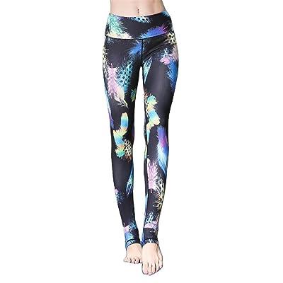 Dafina Specialties Women's Printed Skinny Yoga Stirrup Leggings Pants Workout Running Tights