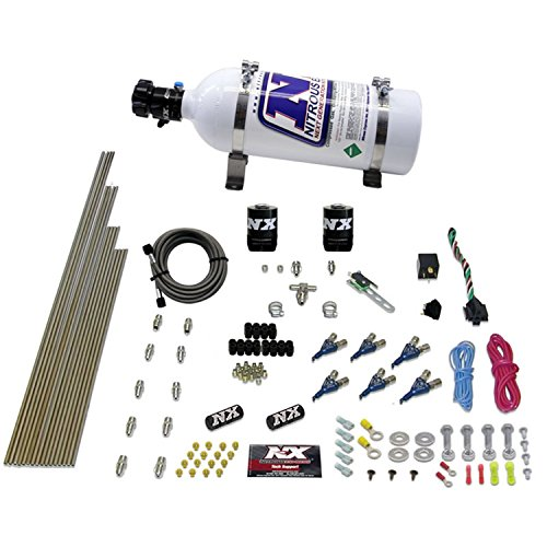 Nitrous Express 80006EFI-05 60-250 HP 6-Cylinder Gasoline EFI Piranha Nozzle System with 5 lbs. Bottle