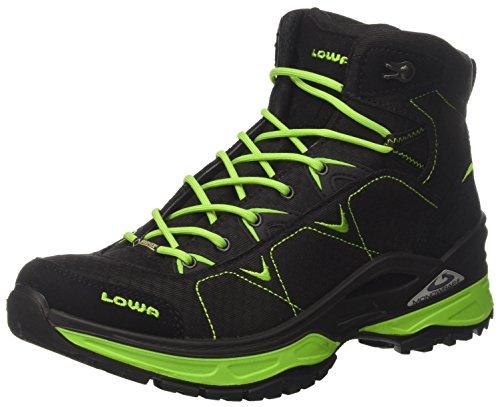 Lowa Ferrox GTX Mid, Scarpe da Escursionismo Uomo Nero (Schwarz/Limone)