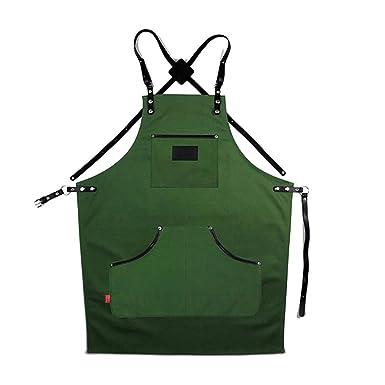 Amazon Genuine Leather Strap Apron With Utility Pockets Men