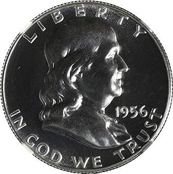 Type 2 90/% Silver 1956  Franklin Silver Half Dollar US Brilliant GEM Proof