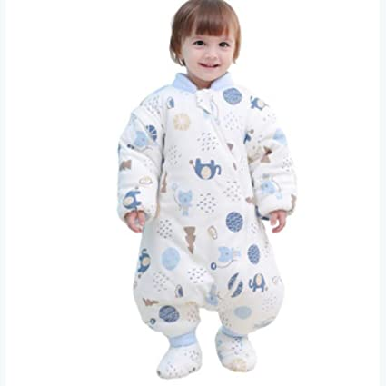 YINGER Saco de Dormir para bebés Invierno Más Grueso Algodón con una Cubierta para los pies