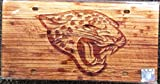 Jacksonville Jaguars Woodgrain Design Deluxe Laser Cut Acrylic Inlaid License Plate Tag Football