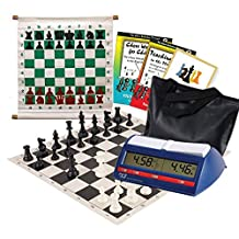Scholastic Club Starter Kit - For 10 Members - With DGT North American Chess Clocks - Black - by US Chess Federation