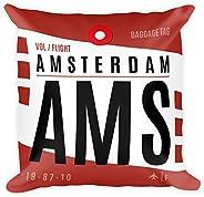AMS - Airport Code Pillow