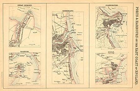 Map Of England East Coast.England East Coast Ports Grimsby Harwich Sunderland Scarborough
