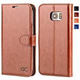 OCASE Samsung Galaxy S7 Edge Case, Premium Leather Flip Wallet Case [TPU Shockproof Interior Protective Case] For Samsung Galaxy S7 Edge Devices - Brown