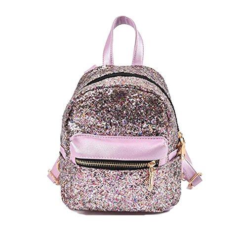 (SEALINF Women Girl Bling Mini Backpack Convertible Shoulder Cross Bags Purse (purple))