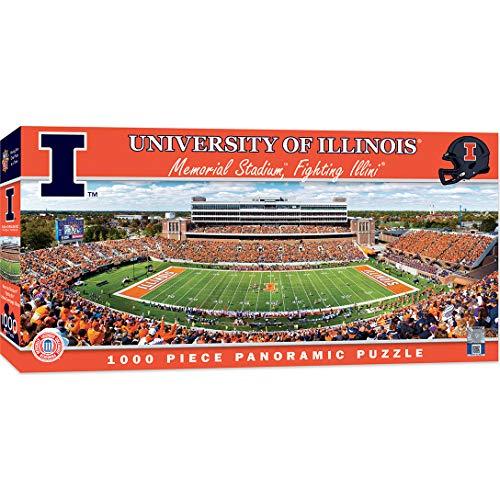 MasterPieces Collegiate Illinois Fighting Illini 1000 Piece Stadium Panoramic Jigsaw Puzzle (Best Seats At Memorial Stadium Illinois)