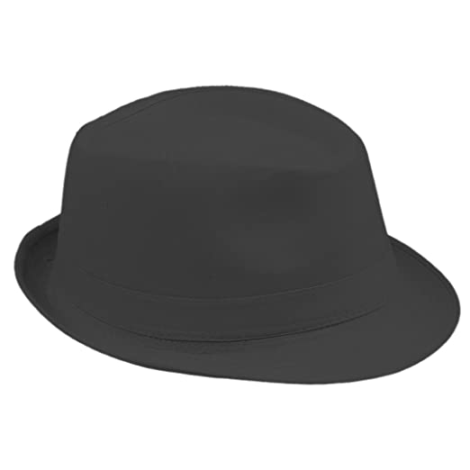 Elee Unisex Timelessly Fedora Hat Jazz Cap Classic Trilby Short Brim Solid  Color (Black) 21d412822b81
