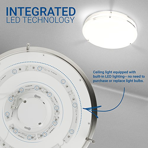 Hyperikon LED Flush Mount Ceiling Light, 14'', 100W equivalent, 1980lm, 4000K (Daylight Glow), 120V, 14-Inch, Dimmable by Hyperikon (Image #3)