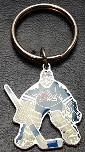 NHL 1992 Quebec Nordiques Goalie Coloured Key Chain - Free Combined - Nordiques Nhl Quebec