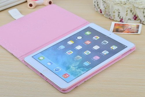 TFS Scaffolding Design 2014 New Butterfly Girl Rhinestone Style Protective Shell Skin Case Flip Folio Leather Cover Stand Protection for Apple Ipad Mini (008)