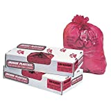 Jaguar Plastics Health Care ''Biohazard'' Printed Liners, 1.35mil, 36 x 58, Red, 100/Carton