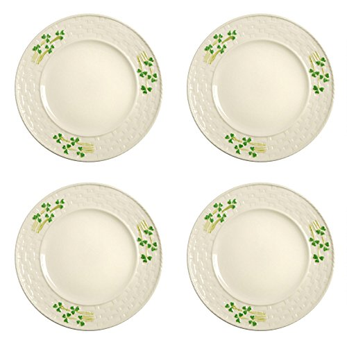 Celtic Classics Traditional Irish Shamrocks Design Dessert Plates,