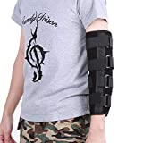 Elbow Support Brace, Breathable Winter Style Arm Splint Fracture Stabilizer Joint Pain Relief, Injury Recovery Night Protector