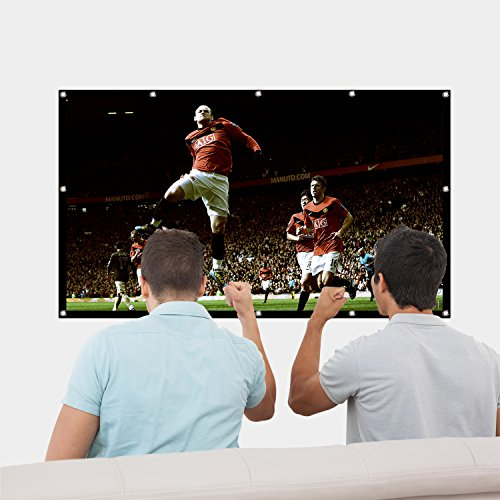 120 Inch Projector Movie Screen, ASINNO Portable Folding Indoor Outdoor 4K HD 16:9 Movie Projection Screen for Meeting/Home/Cinema/Theater /Presentation by ASINNO (Image #6)