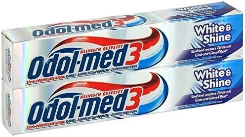 Odol med 3 White&Shine Zahncreme, 75 ml, 2-er Pack (2 x 75 ml)