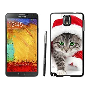 2014 Newest Christmas Cat Black Samsung Galaxy Note 3 Case 7