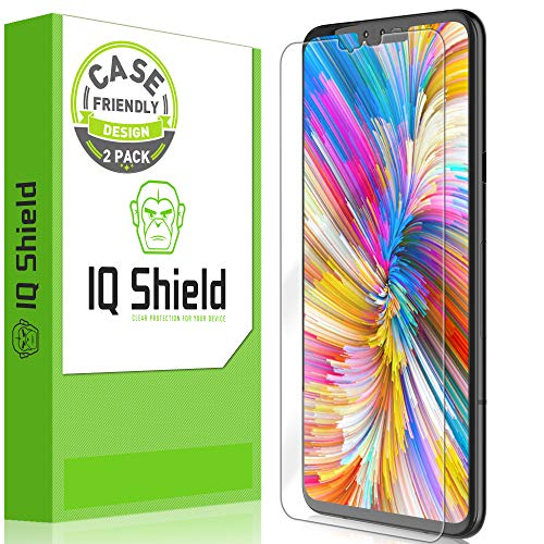 (LG V40 ThinQ Screen Protector [2-Pack, Case Friendly], IQ Shield LiQuidSkin Clear Anti-Bubble Screen Protector for LG V40 ThinQ [High Definition] TPU Film)