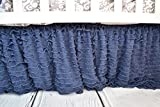 Navy Blue Ruffle Crib Skirt for Baby Bedding - Best Reviews Guide