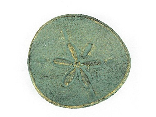 Handcrafted Decor K-012-bronze Antique Bronze Cast Iron Sand Dollar Decorative Plate, 6 in.