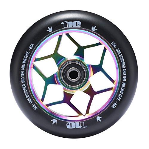 Envy Scooters Diamond Wheels 110mm (Pair) (Oil Slick) (Oil Diamonds)