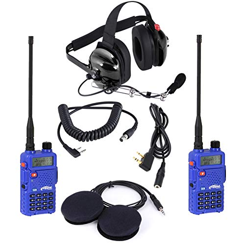 Rugged Radios APB-PRO Audio Pit Board Pro - Includes 2 RH5R Radios, H42 Headset, Headset Cable, Helmet Speakers & Listen Only Cord