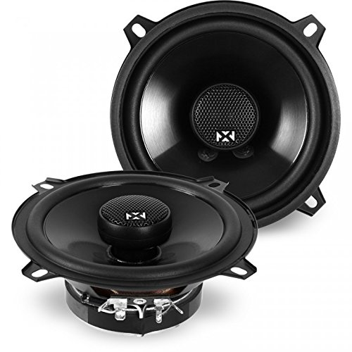 NVX 5 1/4 inch True 140 watt RMS 2-Way Coaxial Car Speakers [N-Series] with Silk Dome Tweeters, Set of 2 [NSP525]
